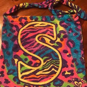 "Girls ""S"" beach/pool towel with bag"